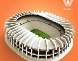 estadio azteca 3d printable model