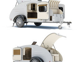 teardrop trailer 01 with interior 3d model max obj 3ds fbx lwo lw lws