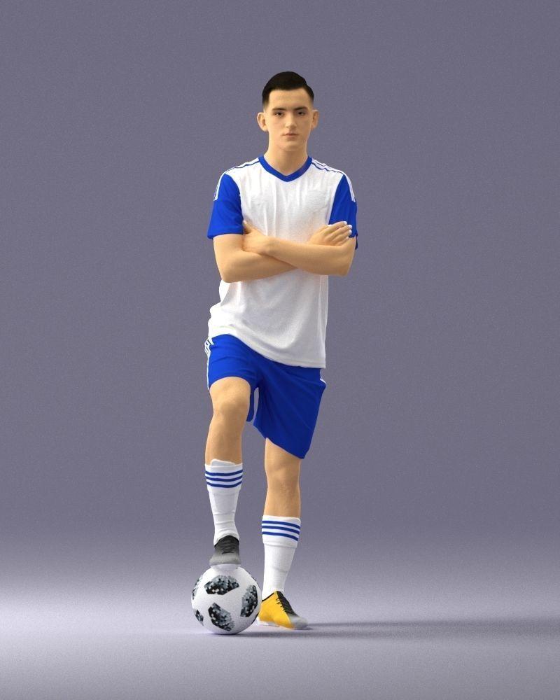 Soccer player 1114-4 3D Print Ready