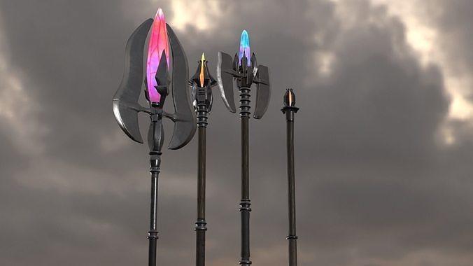 PBR Magic staves Level1-4