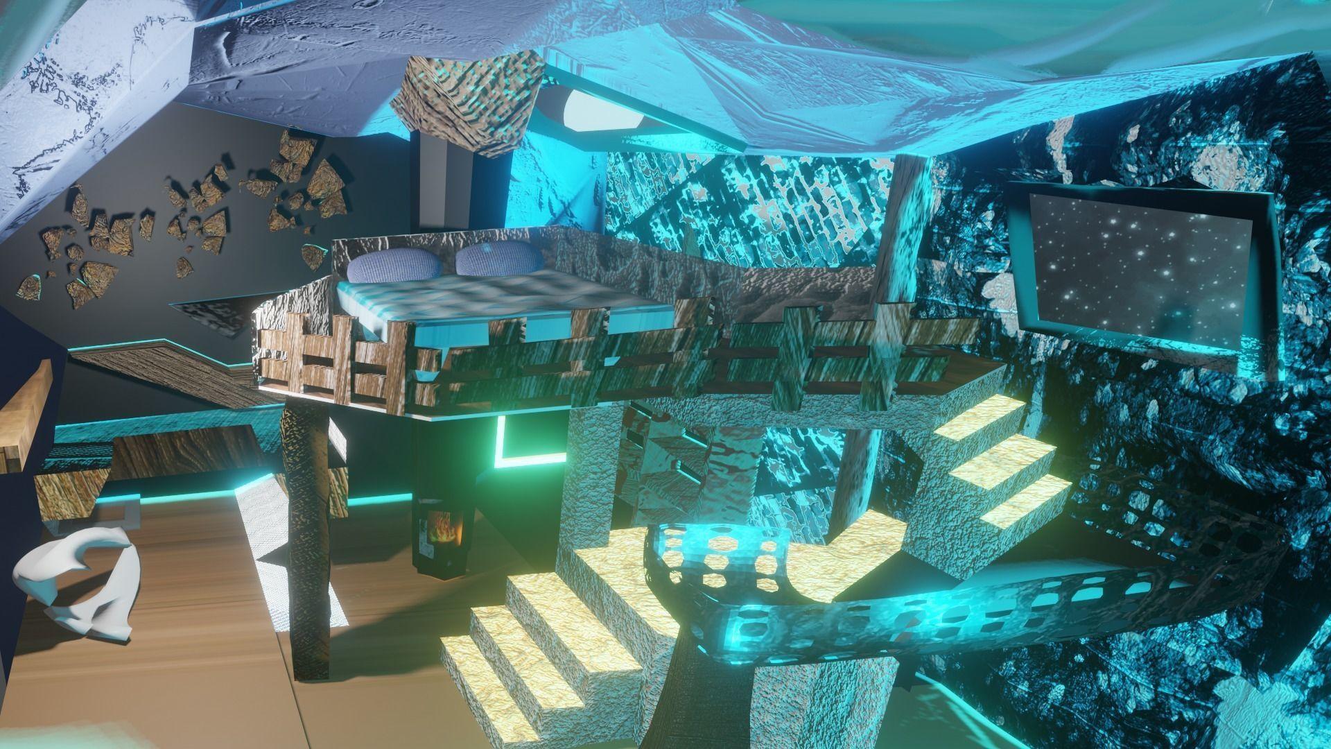 Bedroom Sci Fi Fantasy 3d Cgtrader