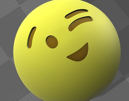 Emoji 3D printable model smiley