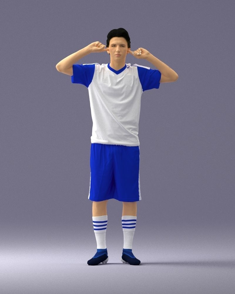 Soccer player 1114-10 3D Print Ready