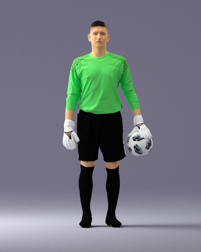 Soccer player 1114-11 3D Print Ready