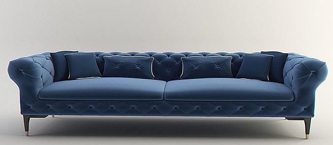 sofa interior furniture modern design 3D model animated