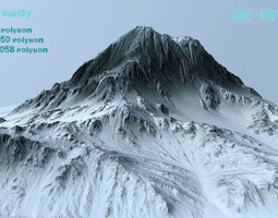 snow mountain 3D asset