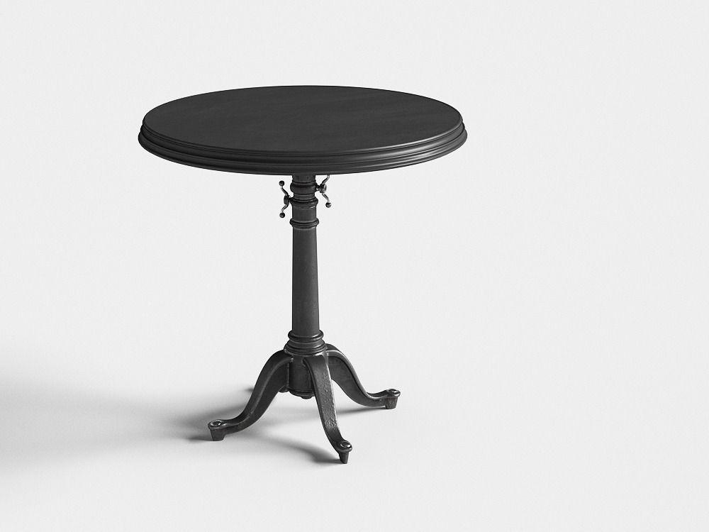 24 18th C French Tilt Top Brasserie Table Set Of 2 3d Model Max