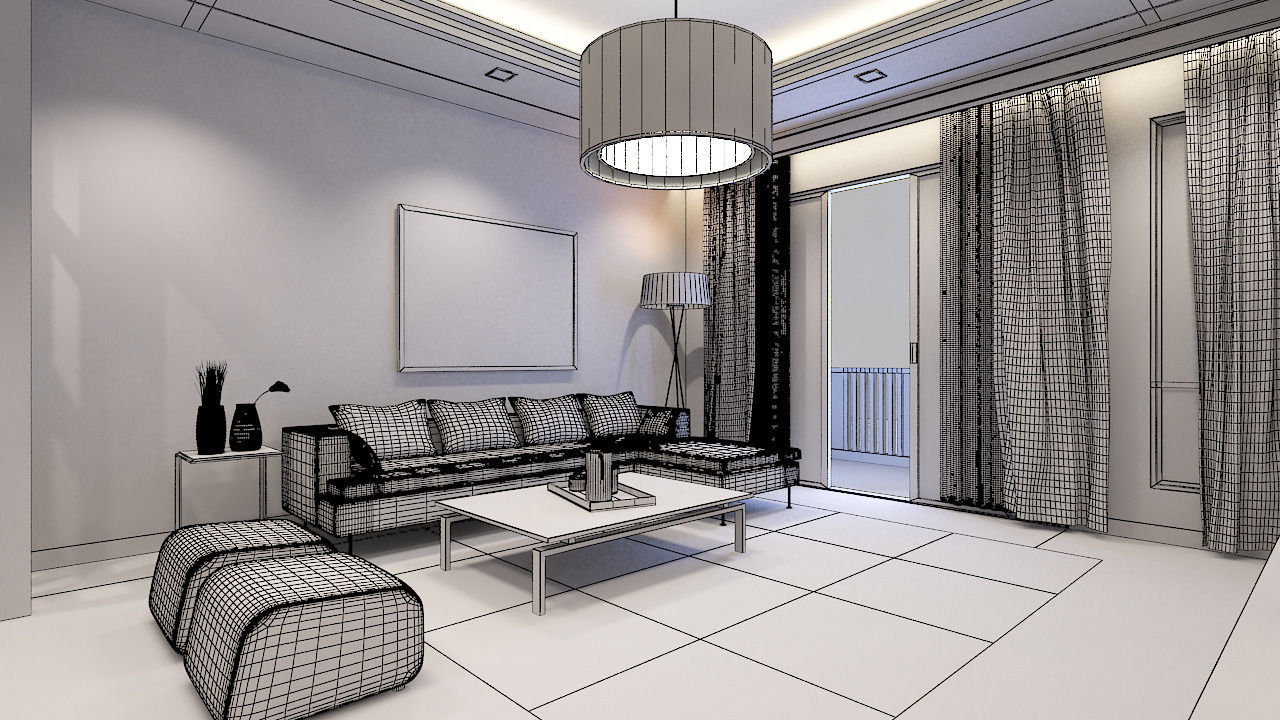 Model Living Room Living Room Condominium 3D Model  Cgtrader