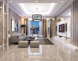 3d living room condominium