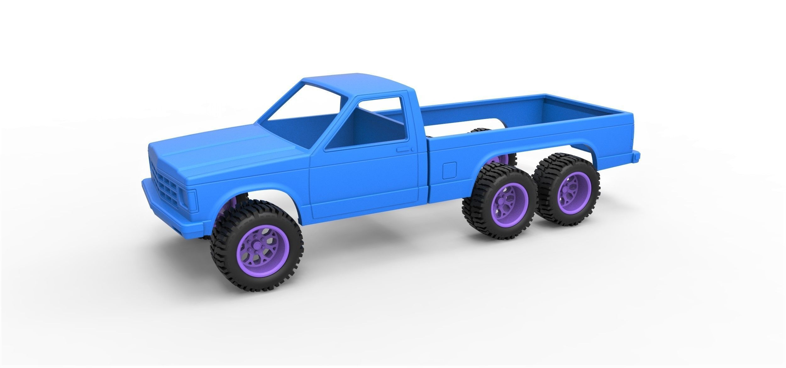 Diecast shell and wheels Chevrolet S10 concept Scale 1 to 25