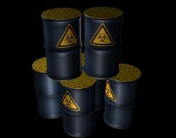 Biohazard Metal Barrel 3D asset