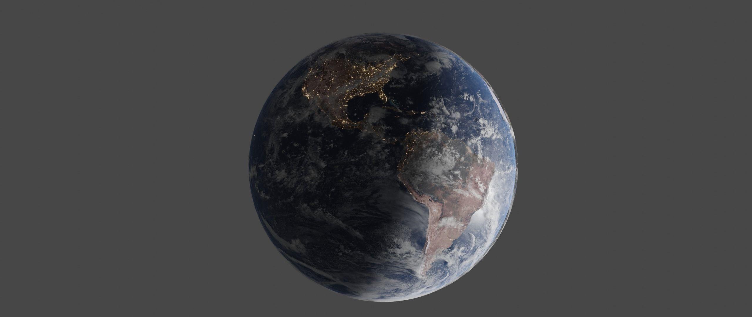 photorealistic earth