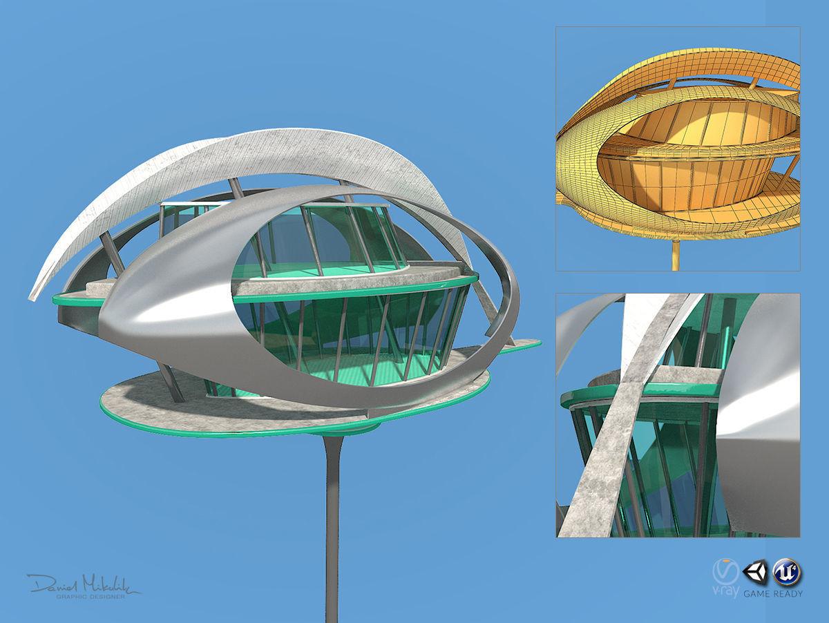 Futuristic Architecture Skyscraper 07