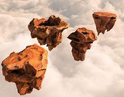 3D asset Flying rocks pack and Bonus HDRI map