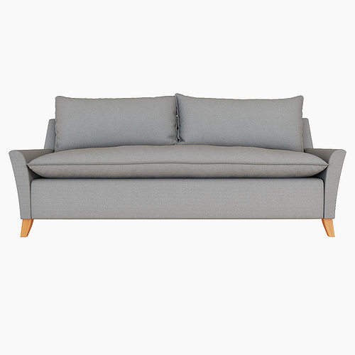 West Elm Bliss DownFilled Sofa 3D CGTrader