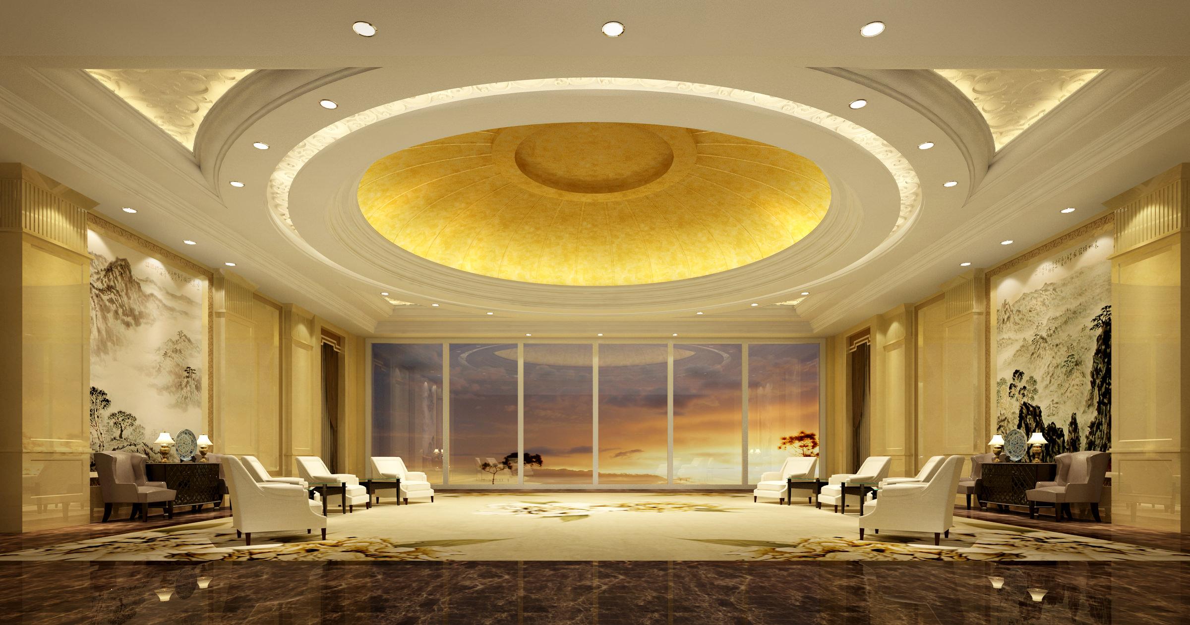 3d rendering luxury hotel lobby china luxury china hotel lobby - Lobby 3d Model Max 1