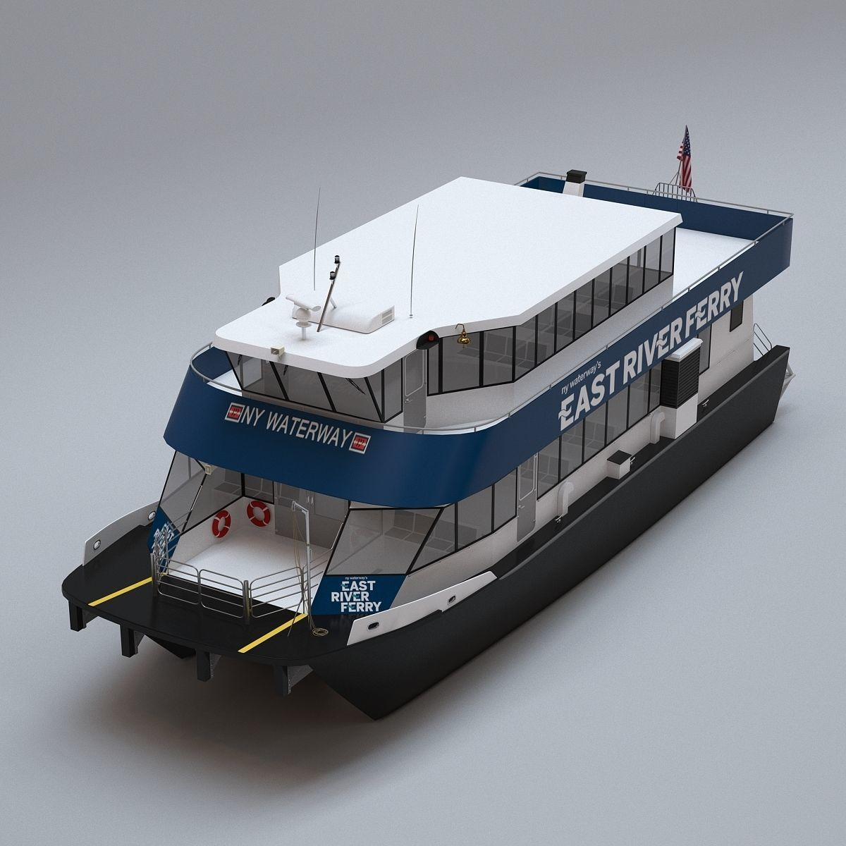 New York East River Ferry Boat