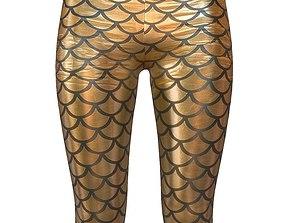Legging Gold 1 3D asset