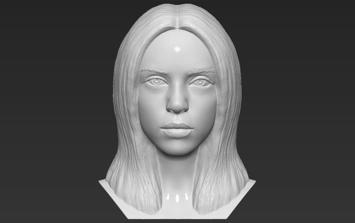 Billie Eilish bust 3D printing ready stl obj formats