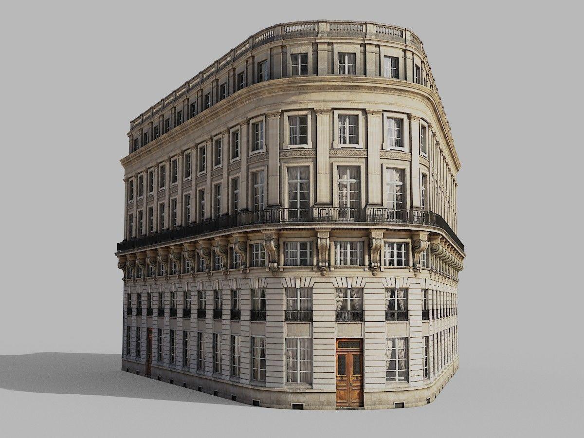 Neoclassic corner facade