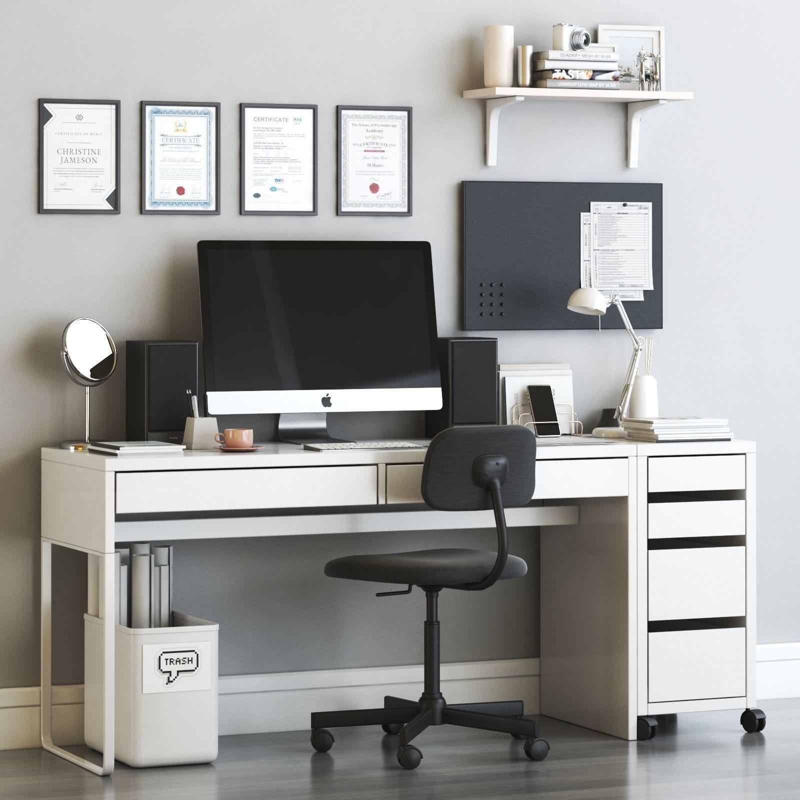 micke scandinavian office workplace set