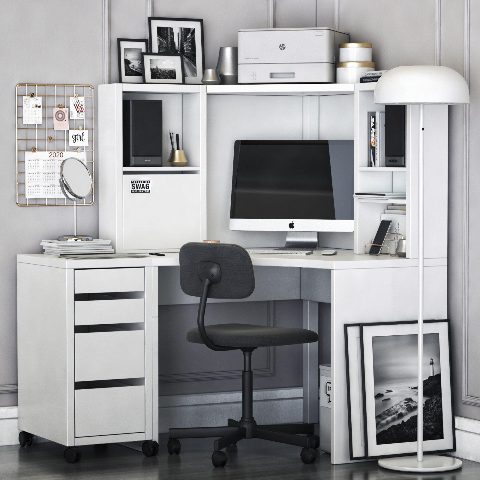 MICKE corner workplace