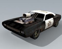 old PoliceCar 3D model