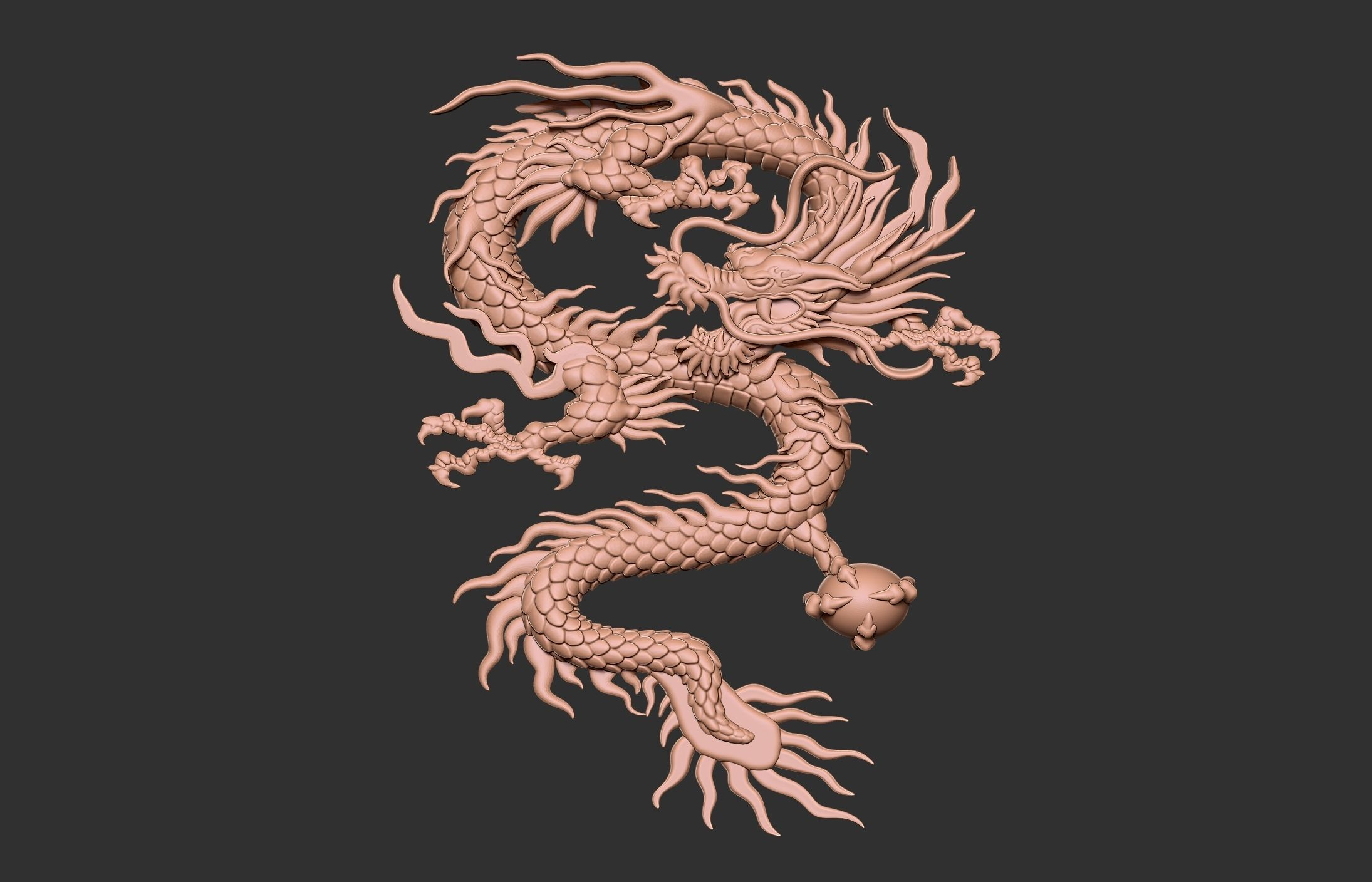 Chinese Dragon Relief