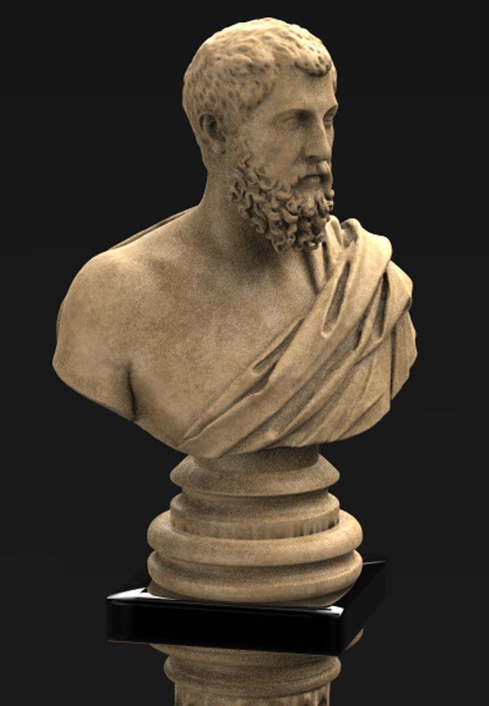 Roman Bust 2 3D model