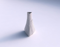 vase grounded triangle with random triangle plates 3d printable model