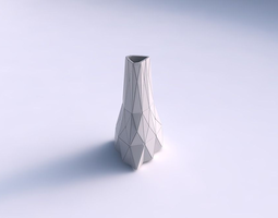 3d printable model vase grounded triangle with triangle plates