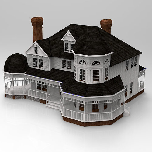Model victorian house