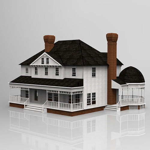 Victorian house 3d model cgtrader for The model house