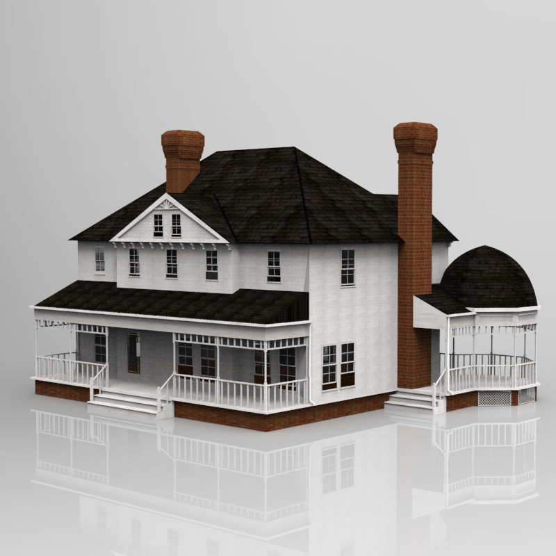 victorian house 3d model cgtrader