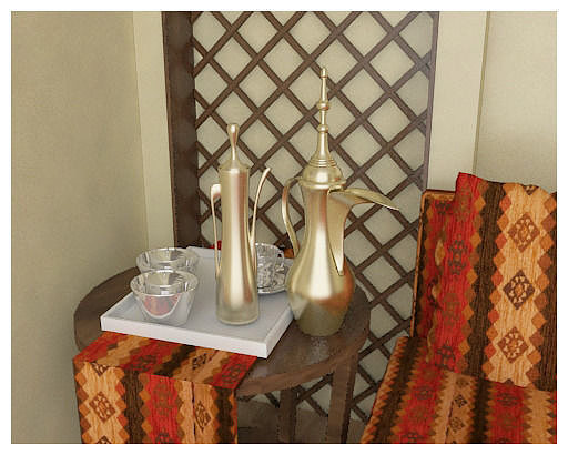 arabic coffee pot 3d model max 1