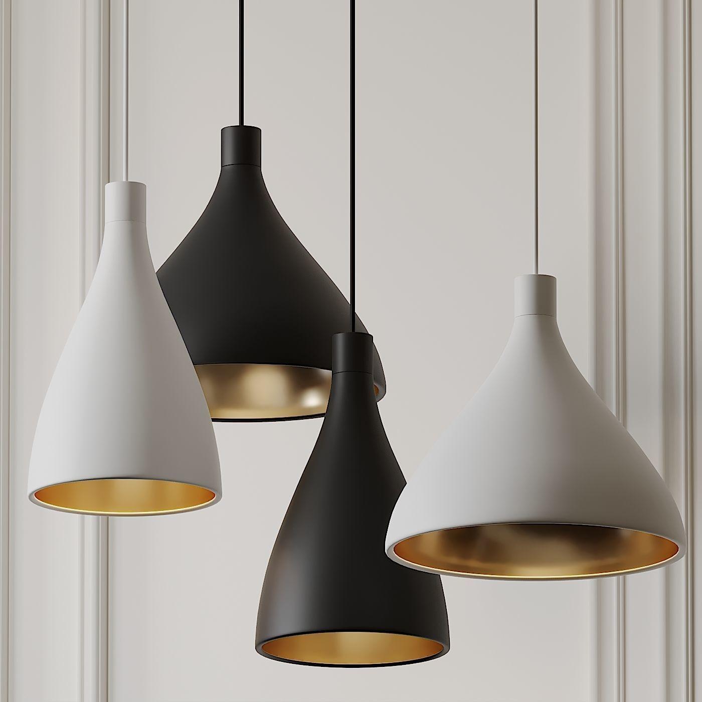 Swell Narrow and Medium Pendant Lights by Pablo Studio 3D