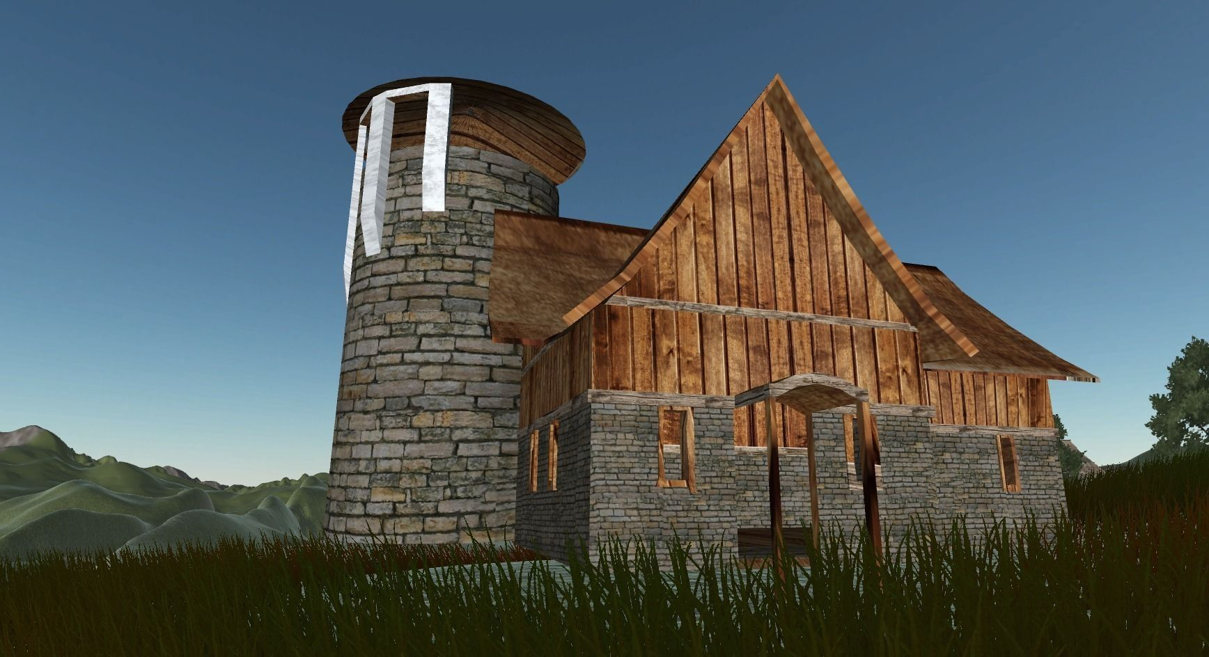 House Tavern Open Building FBX