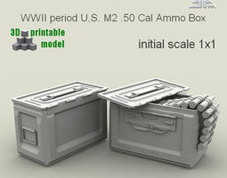 spm-001-m2-01print   wwii period us m2  50 cal ammo box 3d printable model