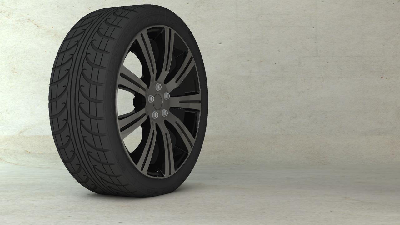 Wheel tires 5X 3D Model OBJ 3DS C4D | CGTrader.com