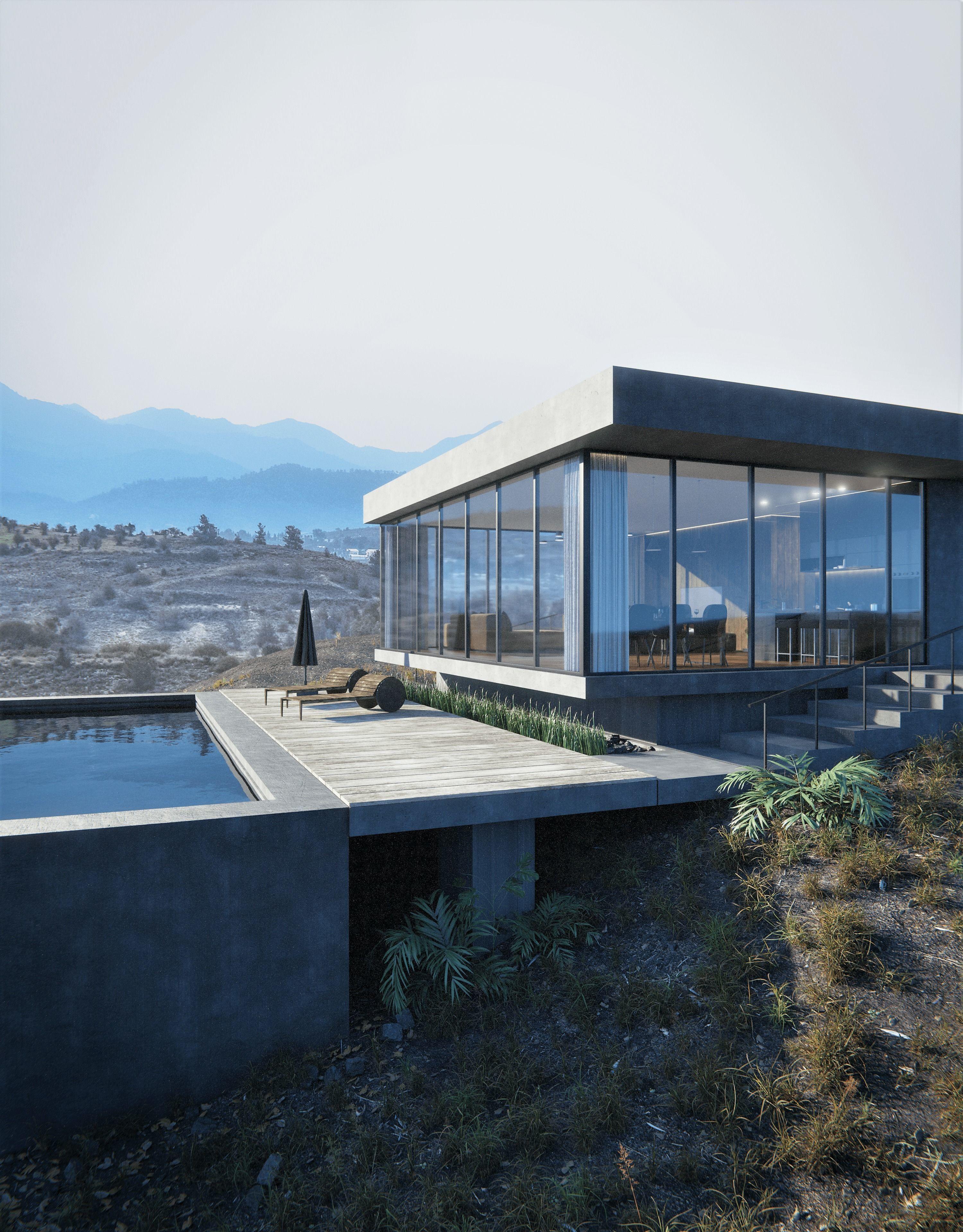 Mountain Sight House 3D-Scene