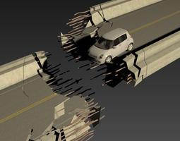 Bridge Collapsed Model 3D
