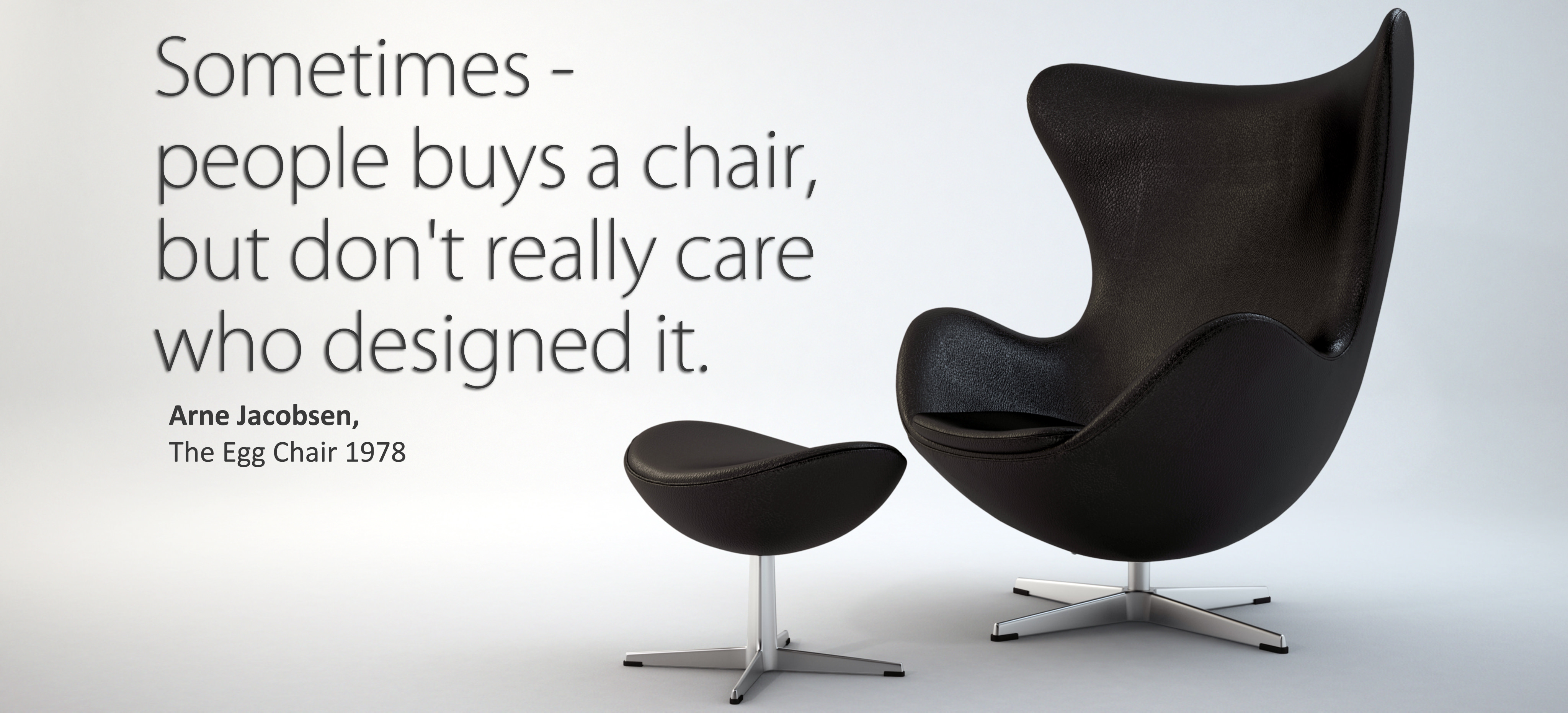 The Egg Chair.The Egg Chair With Stool Arne Jacobsen 3d Model