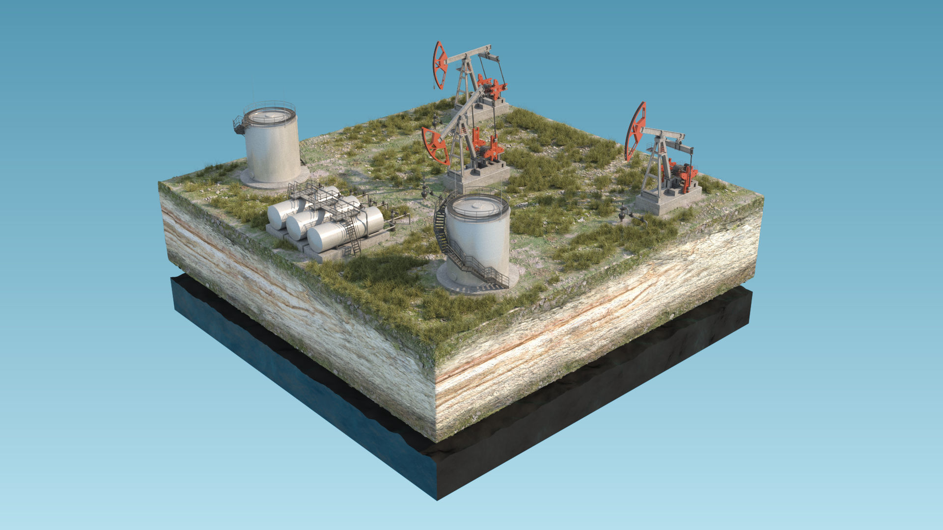 Oil Pumpjack fuel tanks