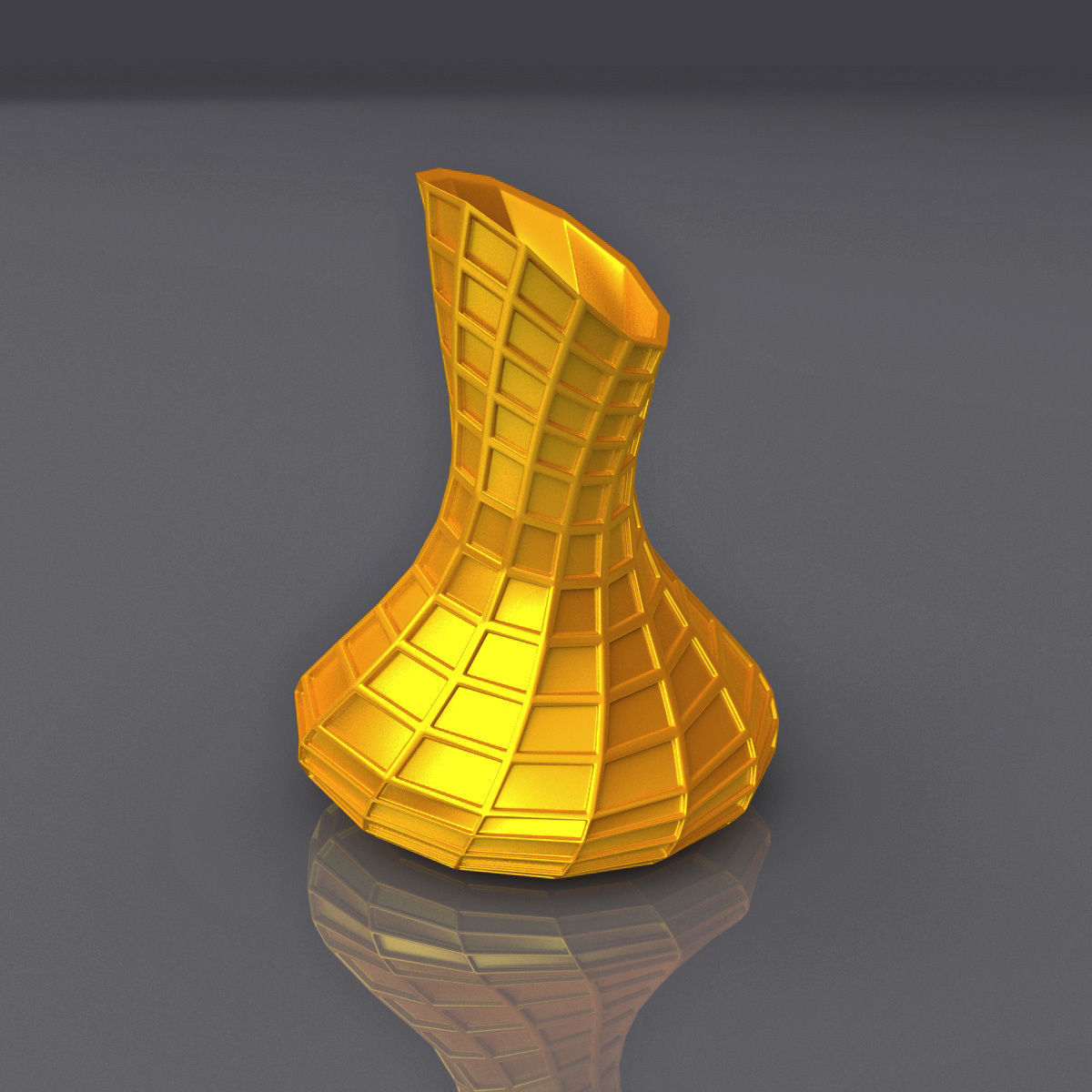 Square Perforated Surface Vase Design 3D Printing Model