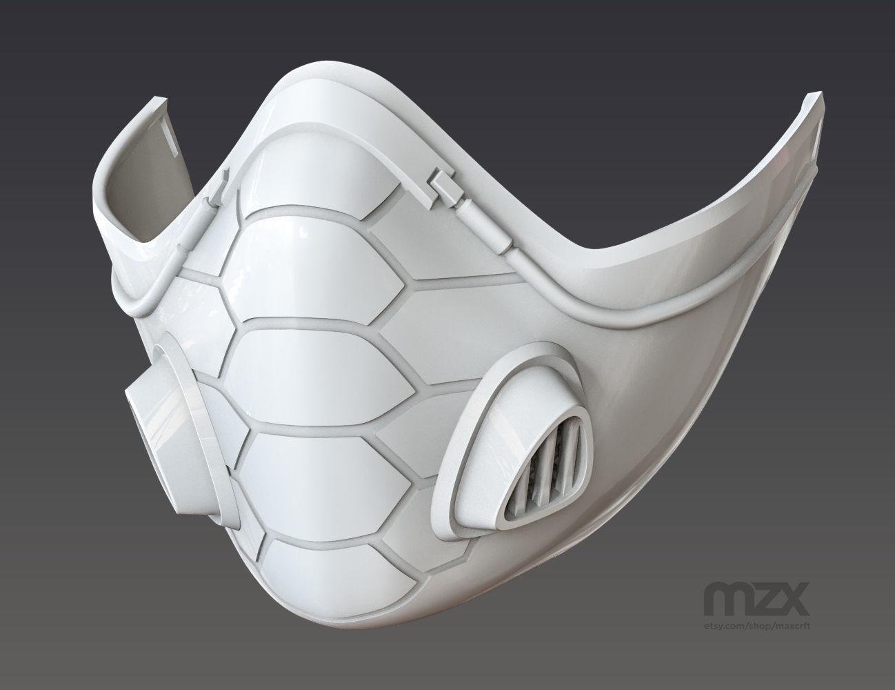 skull gas mask respirator pendant stl 3d model for 3d