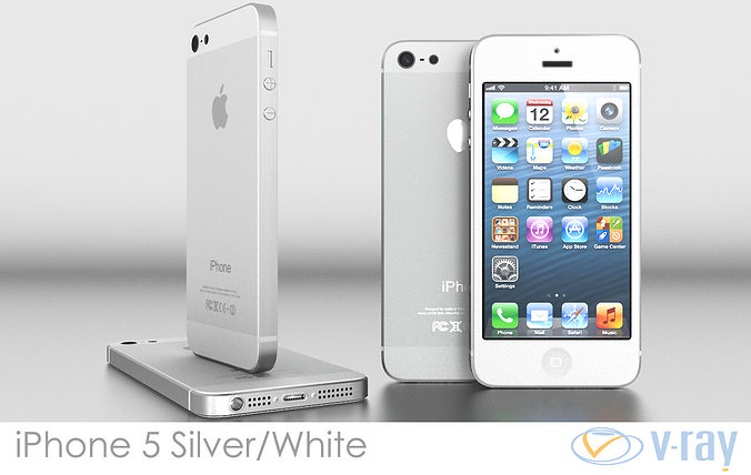 iphone 5 models 3d model iphone 5 white silver vray cgtrader 11013