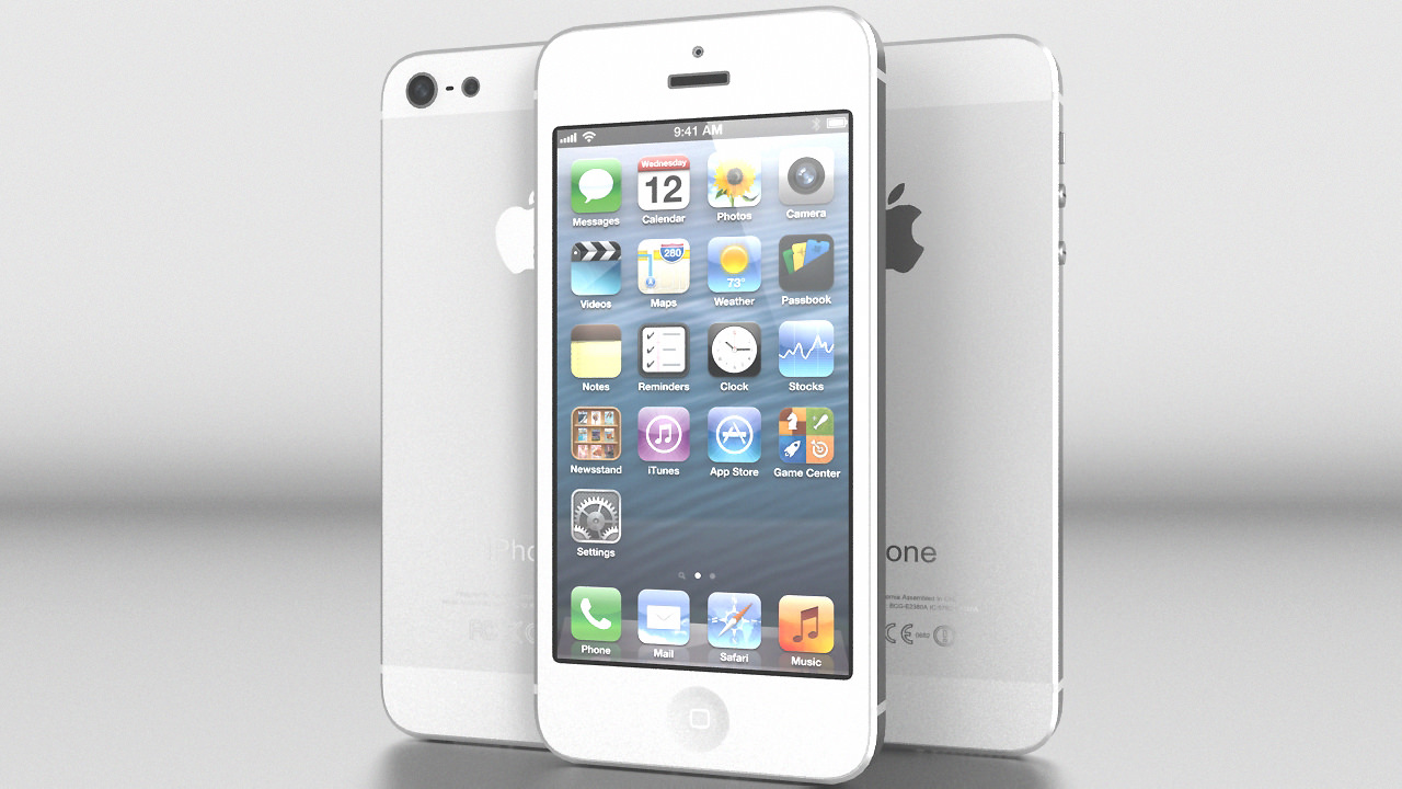 iphone 6 white and silver. iphone 5 white silver vray 3d model max obj 3ds fbx dxf dwg 3 6 and