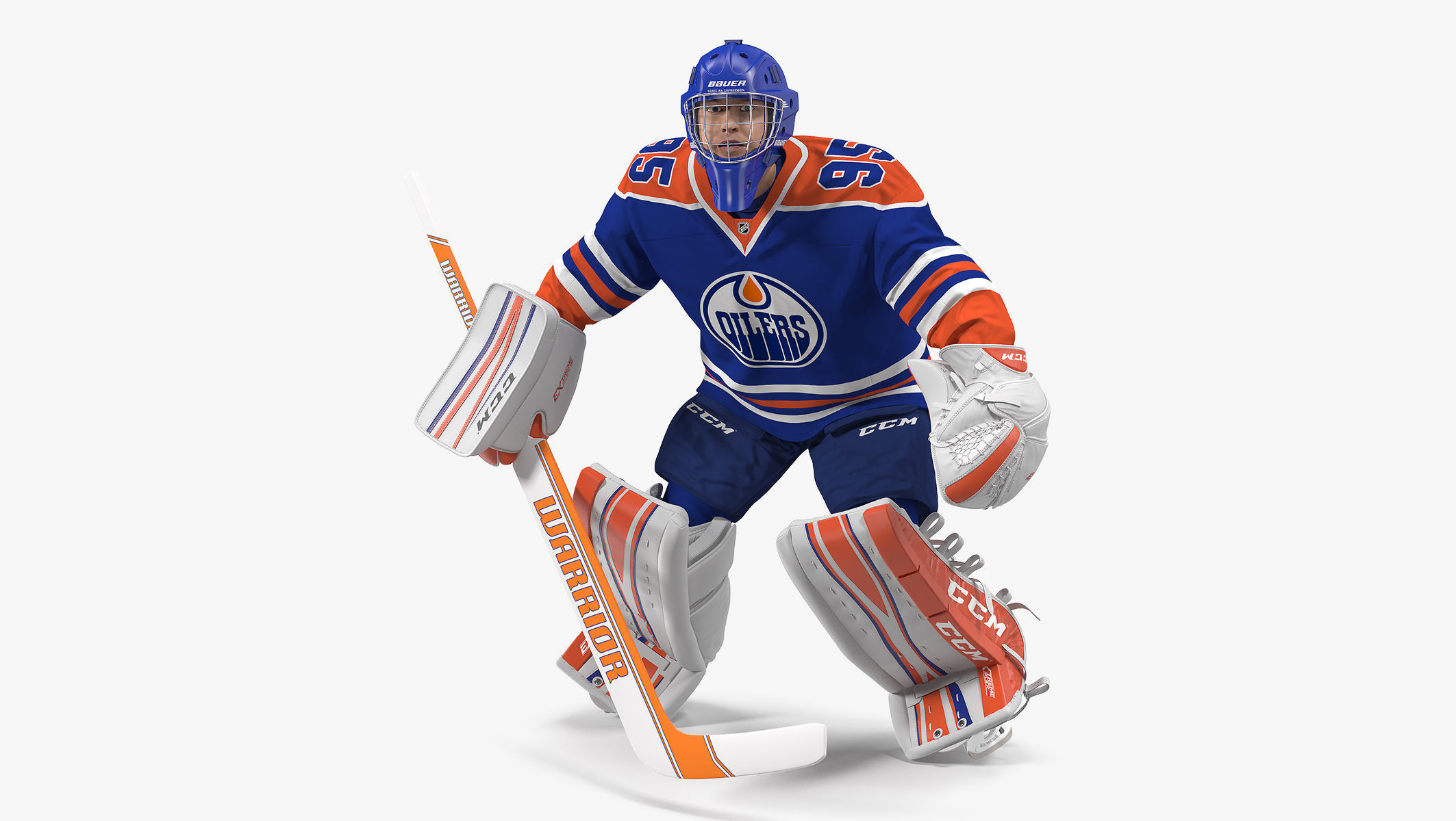 Edmonton Oilers Hockey Goalkeeper Rigged