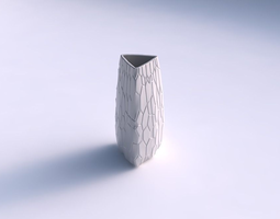3D print model Vase triangle with organic cells