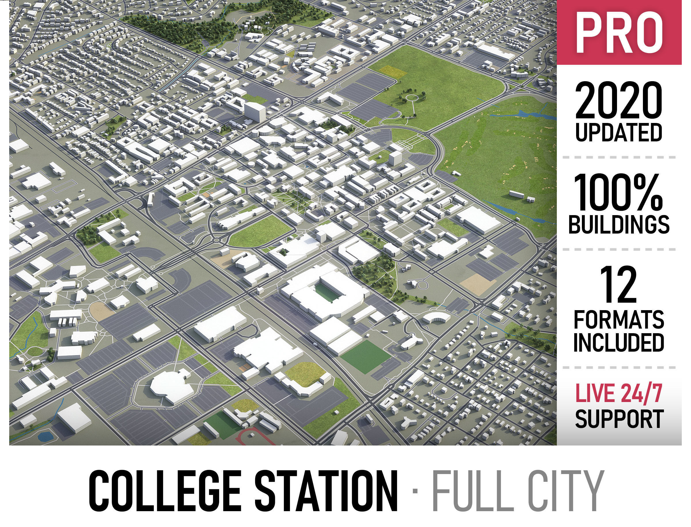 College Station - city and surroundings